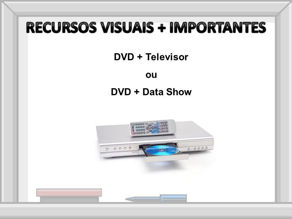 DVD + Televisor ou DVD + Data Show