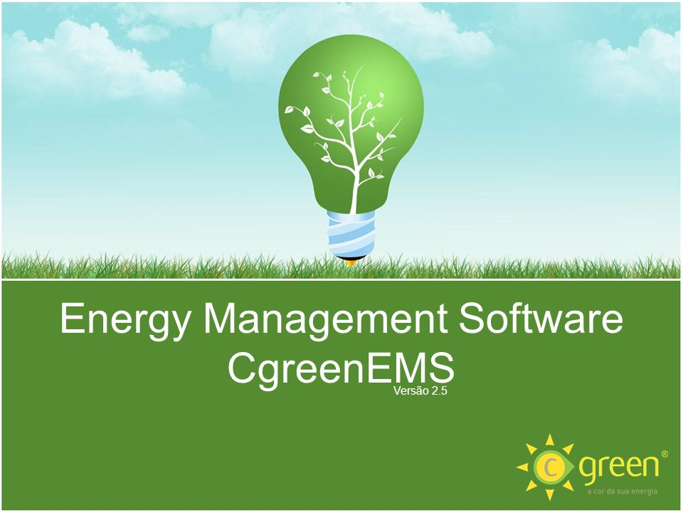 Energy Management Software CgreenEMS Versão 2.5