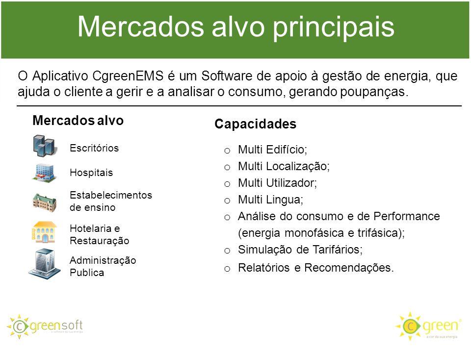 O Aplicativo CgreenEMS é um Software de apoio à gestão de energia, que ajuda o cliente a gerir e a analisar o consumo, gerando poupanças. Capacidades
