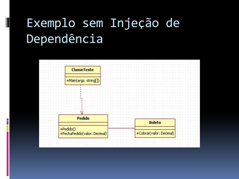 Exemplo sem Injeção de Dependência