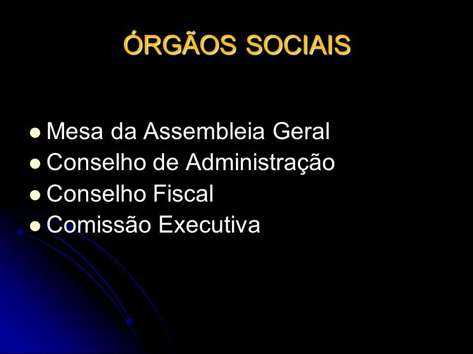 ÓRGÃOS SOCIAIS Mesa da Assembleia Geral Mesa da Assembleia Geral Conselho de Administração Conselho de Administração Conselho Fiscal Conselho Fiscal C