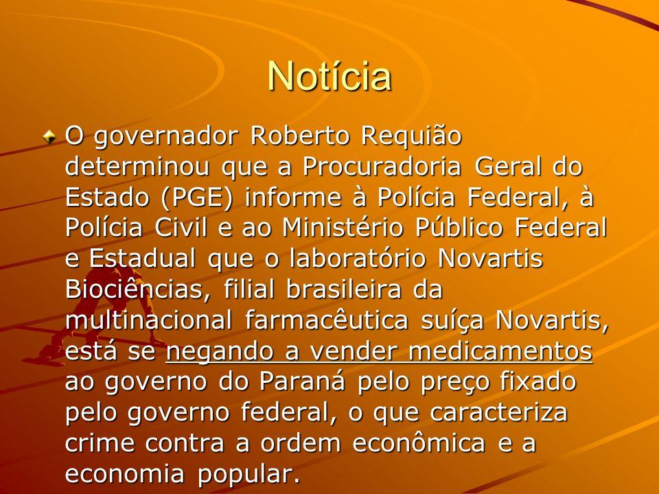 Notícia O governador Roberto Requião determinou que a Procuradoria Geral do Estado (PGE) informe à Polícia Federal, à Polícia Civil e ao Ministério Pú