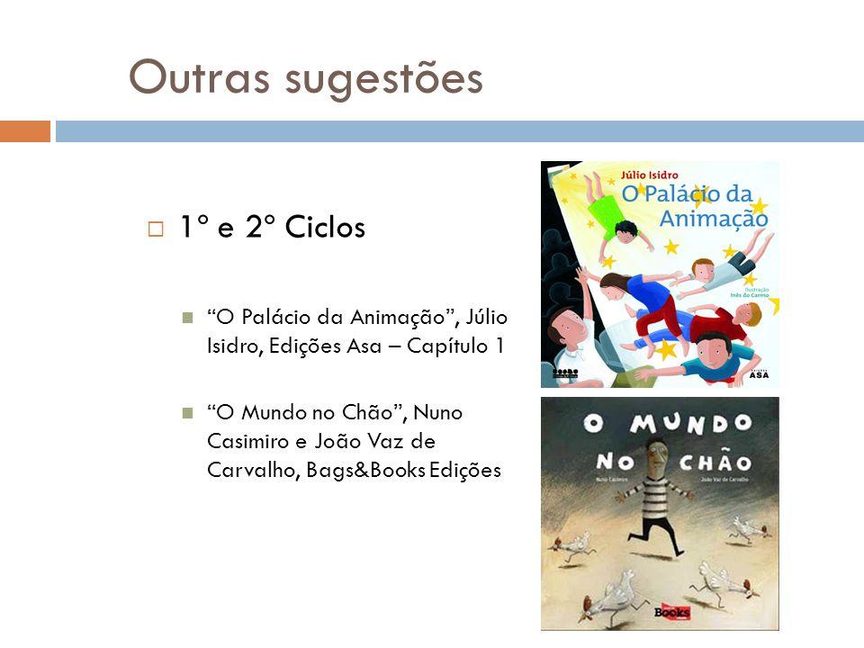 Outras sugestões 1º e 2º Ciclos O Palácio da Animação, Júlio Isidro, Edições Asa – Capítulo 1 O Mundo no Chão, Nuno Casimiro e João Vaz de Carvalho, B