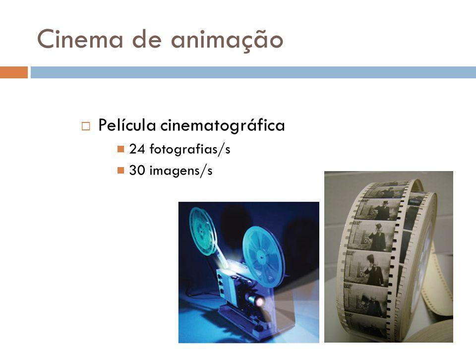 Cinema de animação Película cinematográfica 24 fotografias/s 30 imagens/s