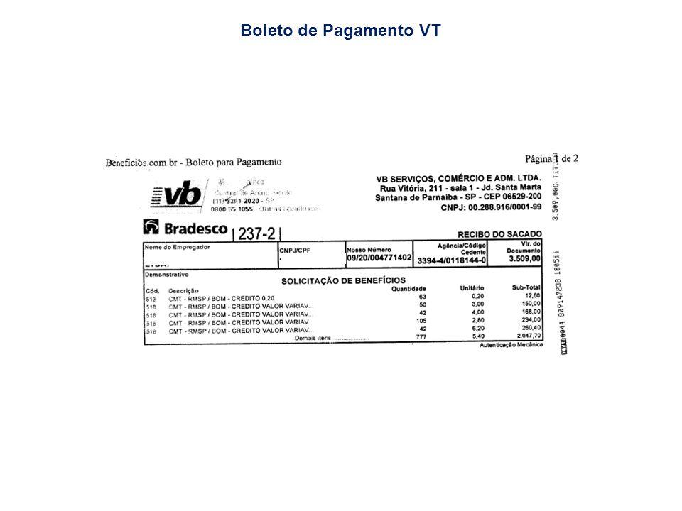 Boleto de Pagamento VT