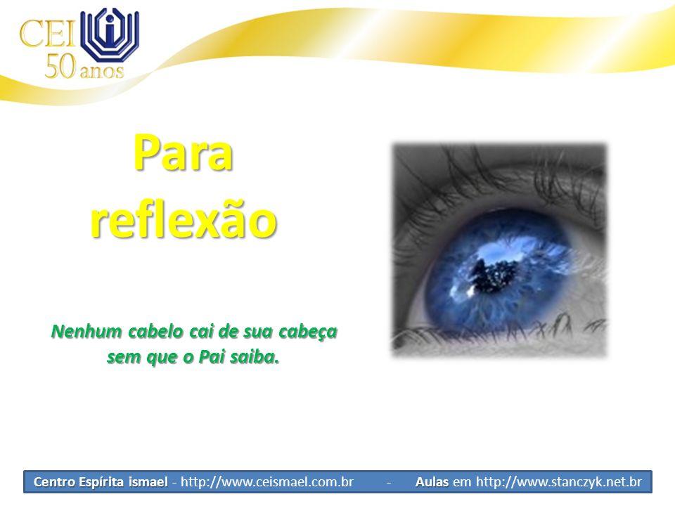 Centro Espírita ismael Aulas Centro Espírita ismael - http://www.ceismael.com.br - Aulas em http://www.stanczyk.net.br Parareflexão Nenhum cabelo cai