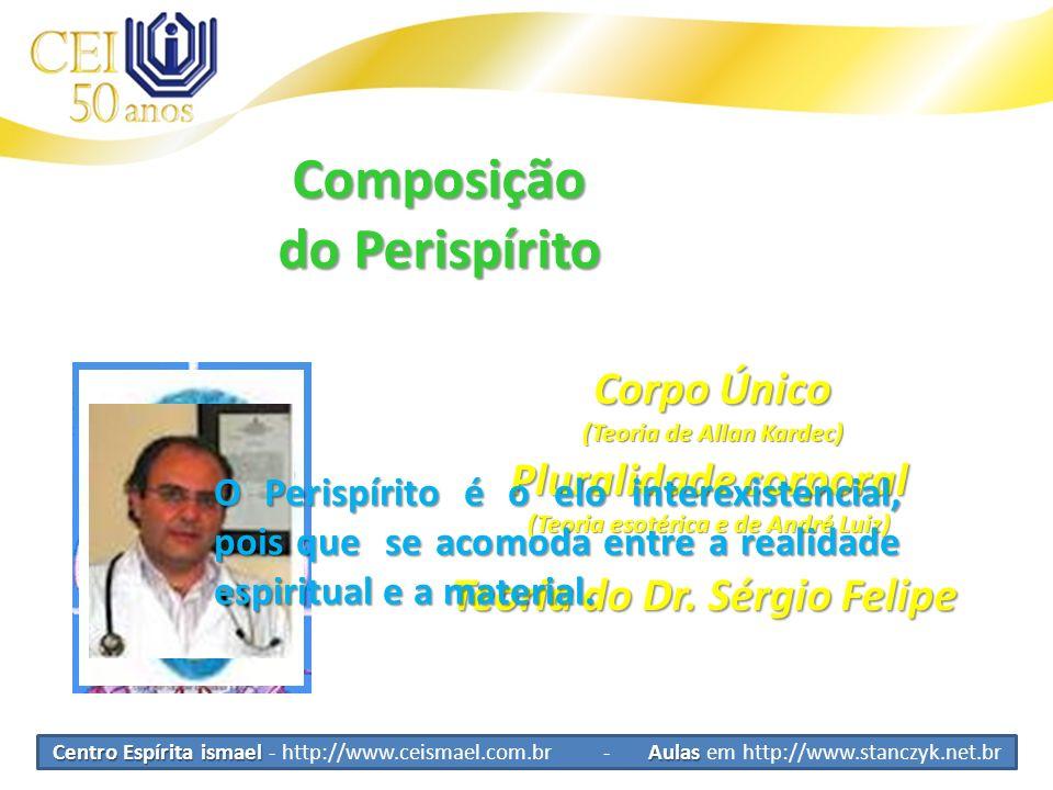 Centro Espírita ismael Aulas Centro Espírita ismael - http://www.ceismael.com.br - Aulas em http://www.stanczyk.net.br Composição do Perispírito Corpo