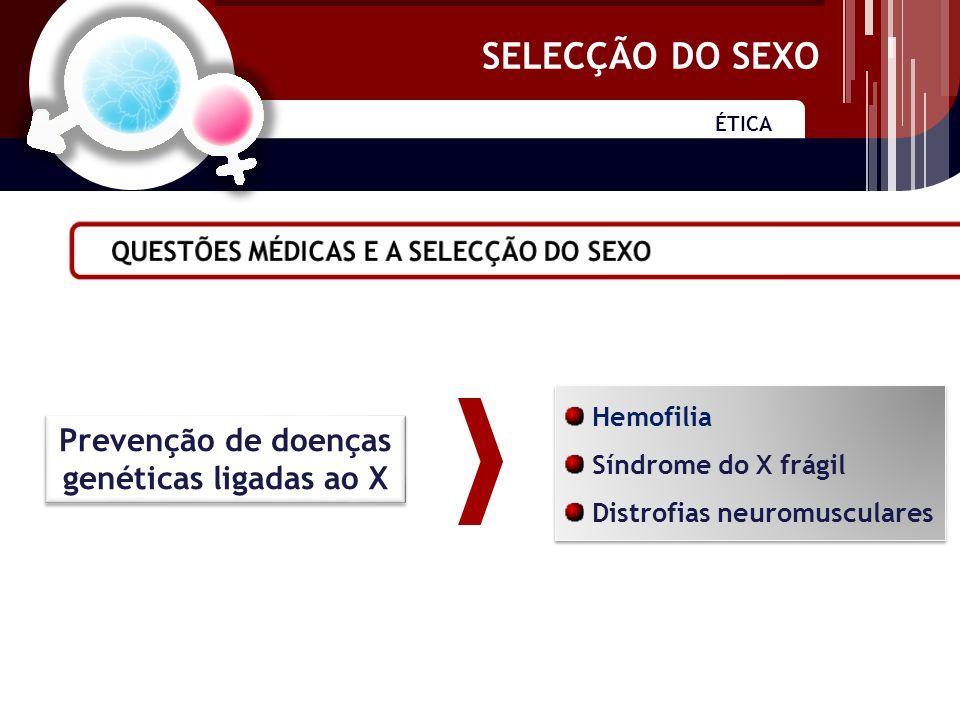 SELECÇÃO DO SEXO Rácio entre sexos Recursos