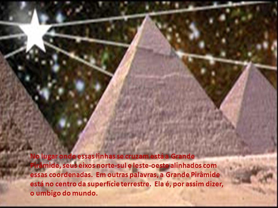 Por outro lado, a pirâmide está colocada num lugar muito especial na face da Terra - ela está no centro exato da superfície terrestre do planeta, divi