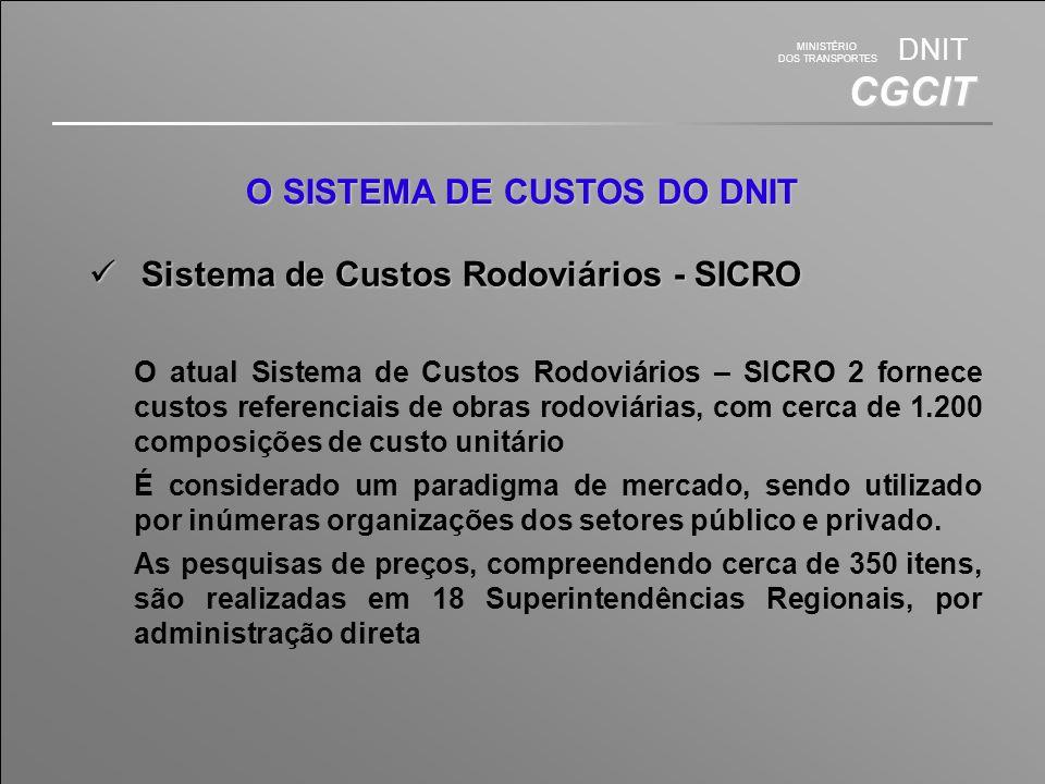 MINISTÉRIO DOS TRANSPORTES DNIT CGCIT Caracterização