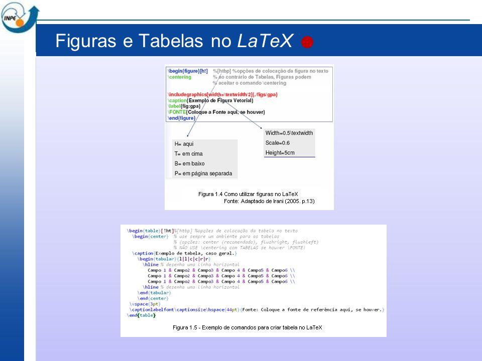 Figuras e Tabelas no LaTeX