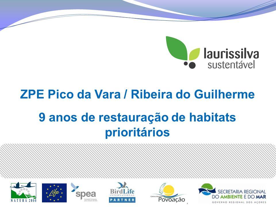 Gestão do Habitat Monitorização Laurissilva Recuperação de Floresta Laurissilva, para aumentar a área do Priolo e a disponibilidade de alimento
