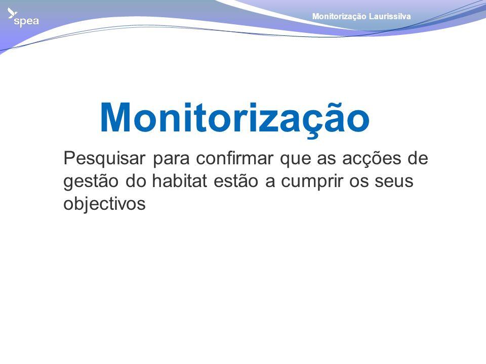 Monitorização Monitorização Laurissilva Pesquisar para confirmar que as acções de gestão do habitat estão a cumprir os seus objectivos