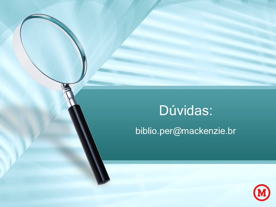 Dúvidas: biblio.per@mackenzie.br