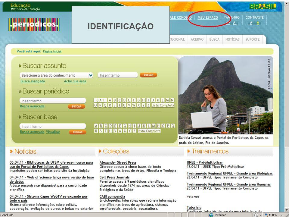 Após o preenchimento do cadastro de identificação pelo Portal o usuário receberá em seu e-mail cadastrado um link de confirmação.