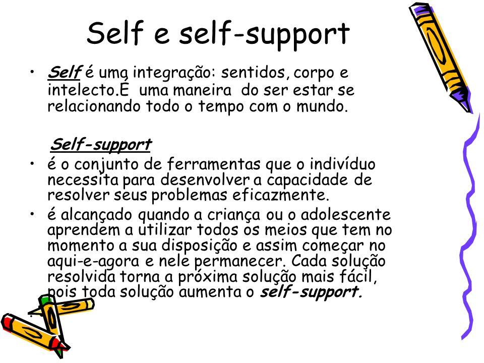 Self e self-support Self é uma integração: sentidos, corpo e intelecto.