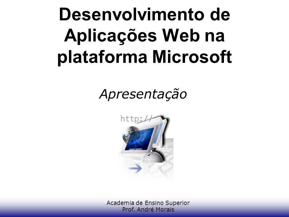 Academia de Ensino Superior Prof. André Morais Desenvolvimento de Aplicações Web na plataforma Microsoft Apresentação