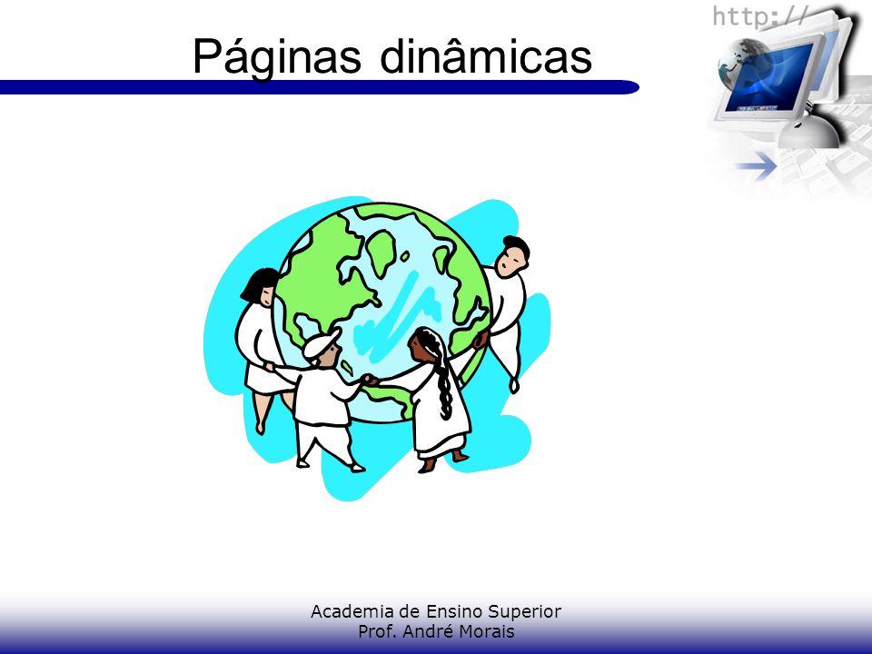 Academia de Ensino Superior Prof. André Morais Páginas dinâmicas