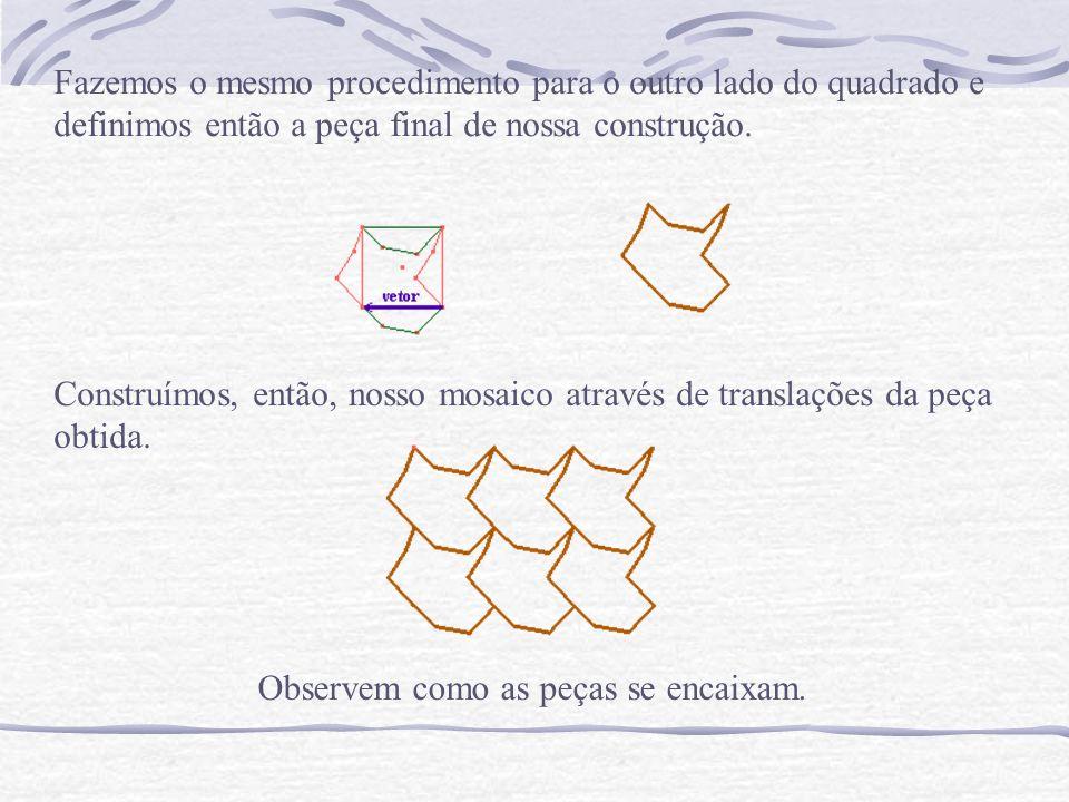 Neste mosaico o polígono regular que utilizamos é um hexágono.