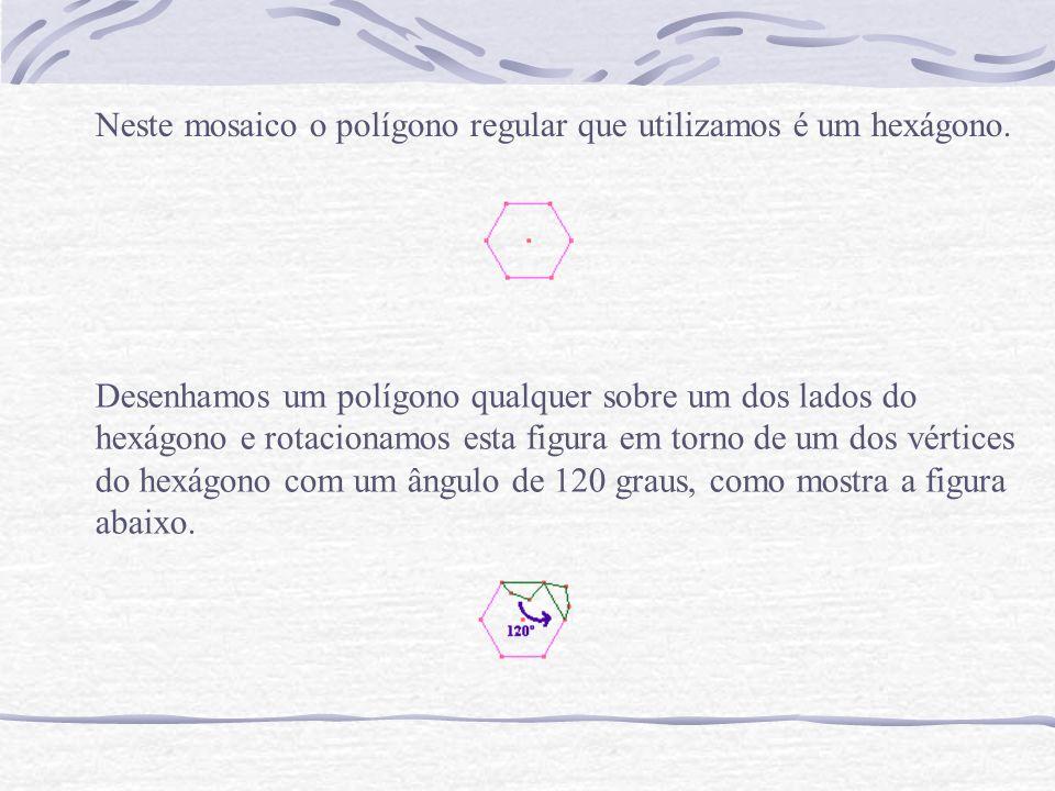 Repetimos esse procedimento para os demais lados do hexágono e definimos a peça final.