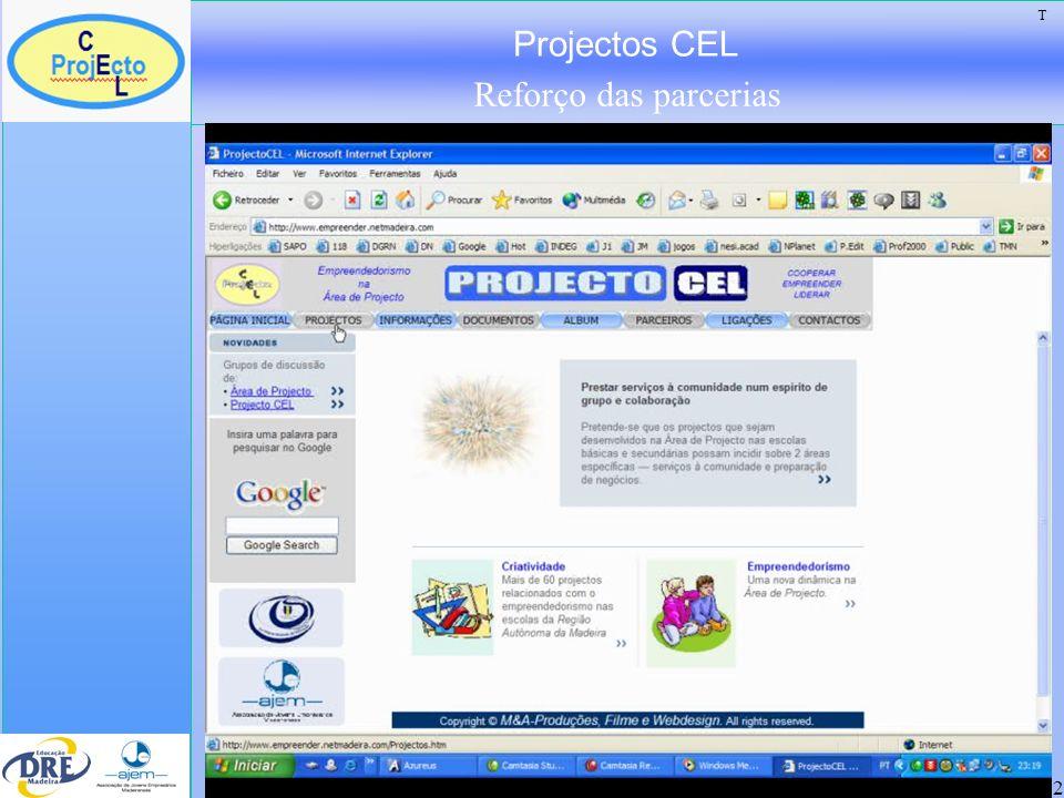 Projectos CEL Reforço das parcerias 22 T
