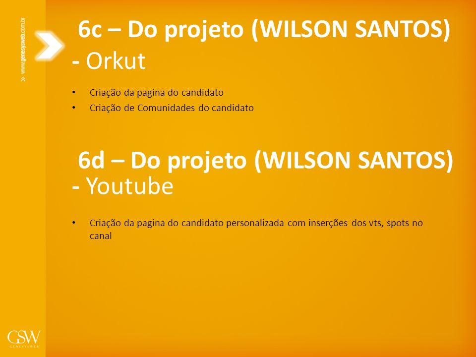 Criação da pagina do candidato Criação de Comunidades do candidato 6c – Do projeto (WILSON SANTOS) - Orkut Criação da pagina do candidato personalizad