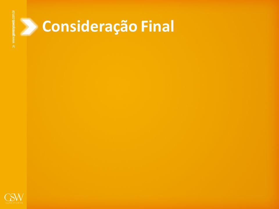 Consideração Final