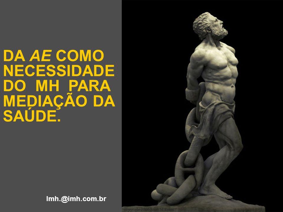 DA AE COMO NECESSIDADE DO MH PARA MEDIAÇÃO DA SAÚDE. Imh.@imh.com.br