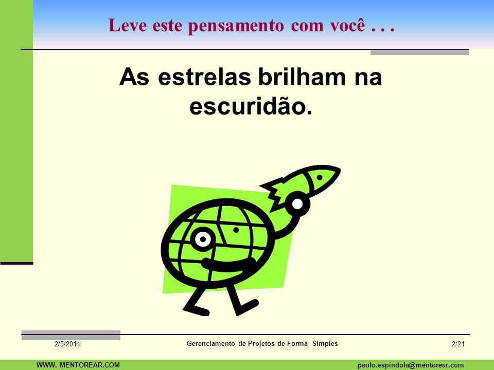 Gerenciamento de Projetos de Forma Simples Mentorear Assessoria Empresarial Ltda Gestão de Projetos Paulo Espindola TV.3.0 Escopo