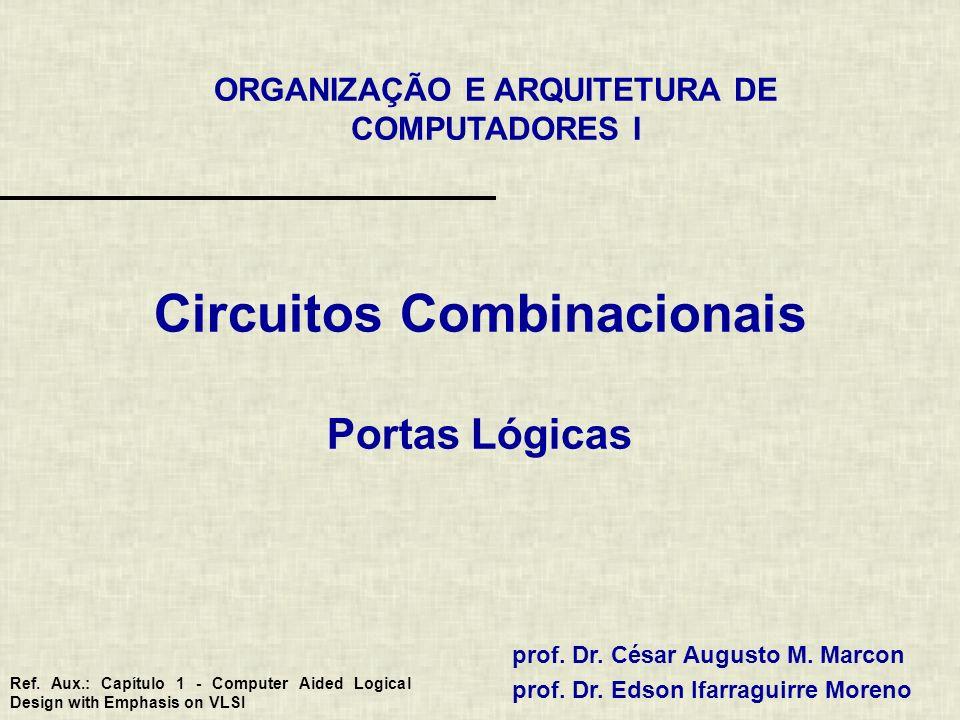 ORGANIZAÇÃO E ARQUITETURA DE COMPUTADORES I prof. Dr. César Augusto M. Marcon prof. Dr. Edson Ifarraguirre Moreno Circuitos Combinacionais Portas Lógi