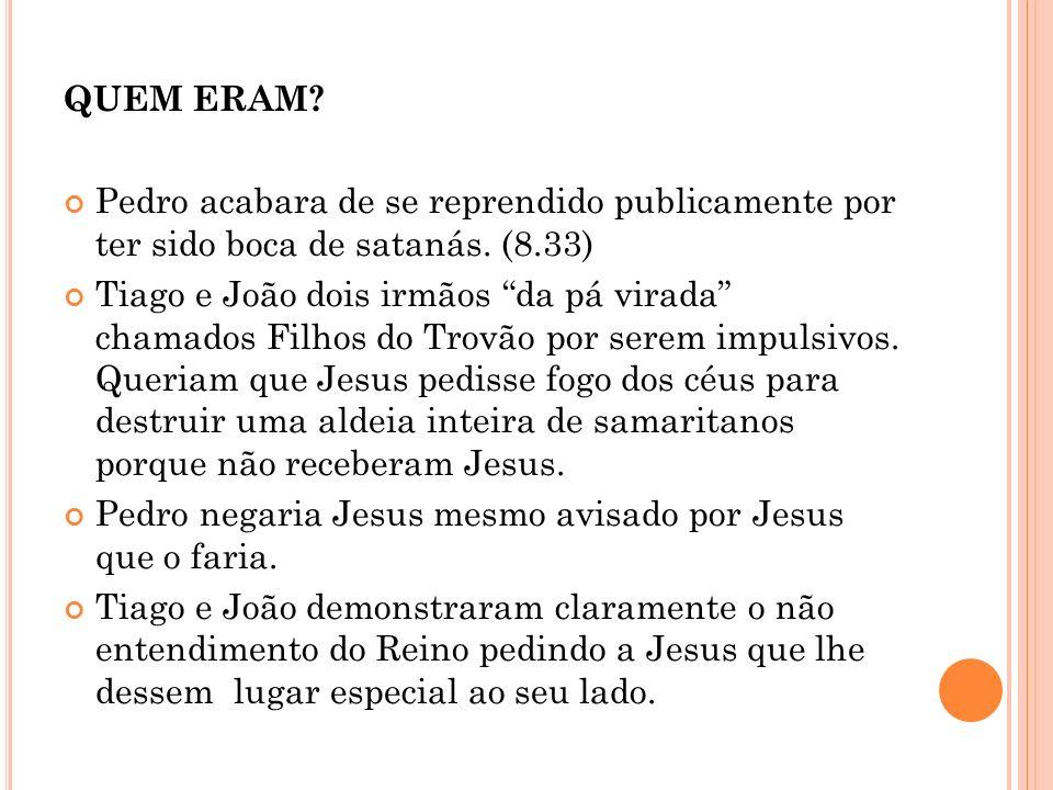 POR QUE ELES.Foram homens que desenvolveram fé em Jesus e não nos seus milagres.