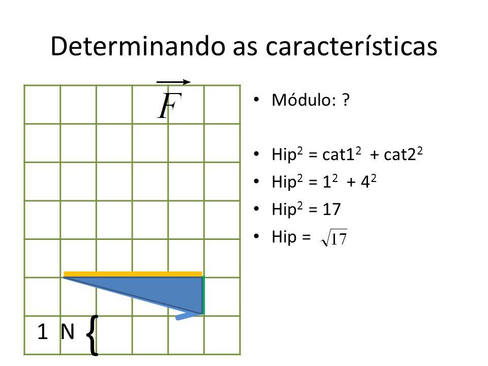 Determinando as características Módulo: .