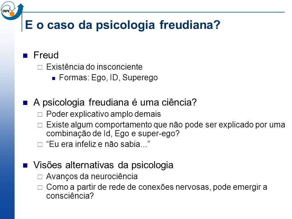 E o caso da psicologia freudiana.