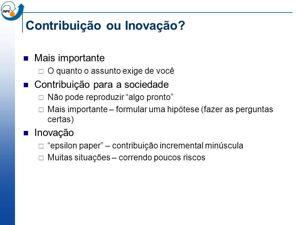 Contribuição ou Inovação.