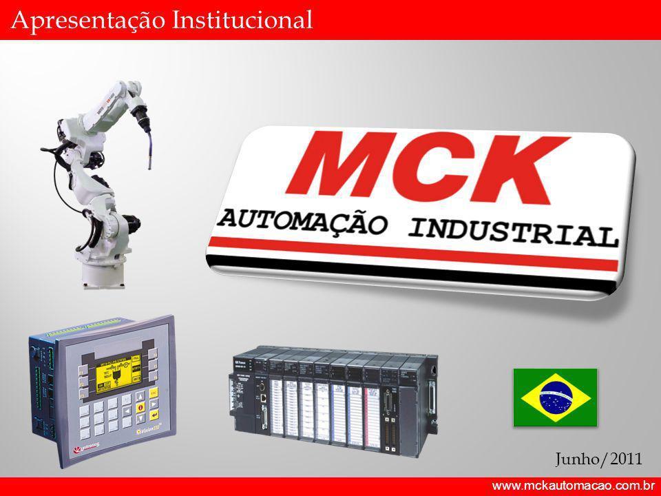 www.mckautomacao.com.br A Empresa A MCK foi fundada em 2009 por profissionais com vasta experiência no ramo de automação industrial e construção de máquinas especiais; Capital Privado 100% Nacional; Experiência comprovada em automação industrial e máquinas especiais; Equipe Técnica altamente especializada e atualizada; Conhecimento Multidisciplinar; Integrador Siemens e Rockwell; Solution Provider GE Fanuc;