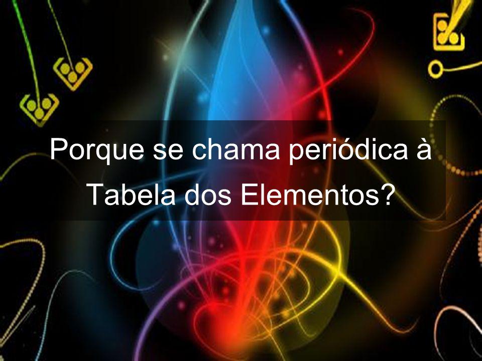 Porque se chama periódica à Tabela dos Elementos?