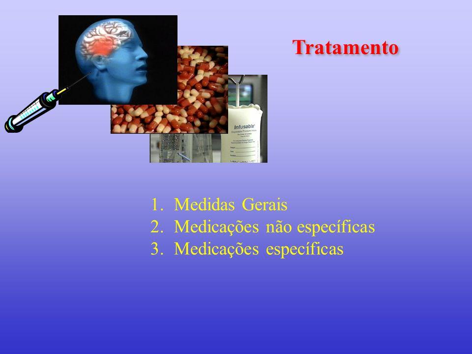 Tratamento 1.Medidas Gerais 2.Medicações não específicas 3.Medicações específicas
