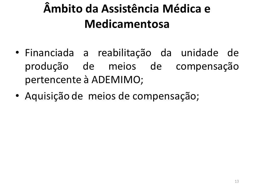 Âmbito da Assistência Médica e Medicamentosa Financiada a reabilitação da unidade de produção de meios de compensação pertencente à ADEMIMO; Aquisição