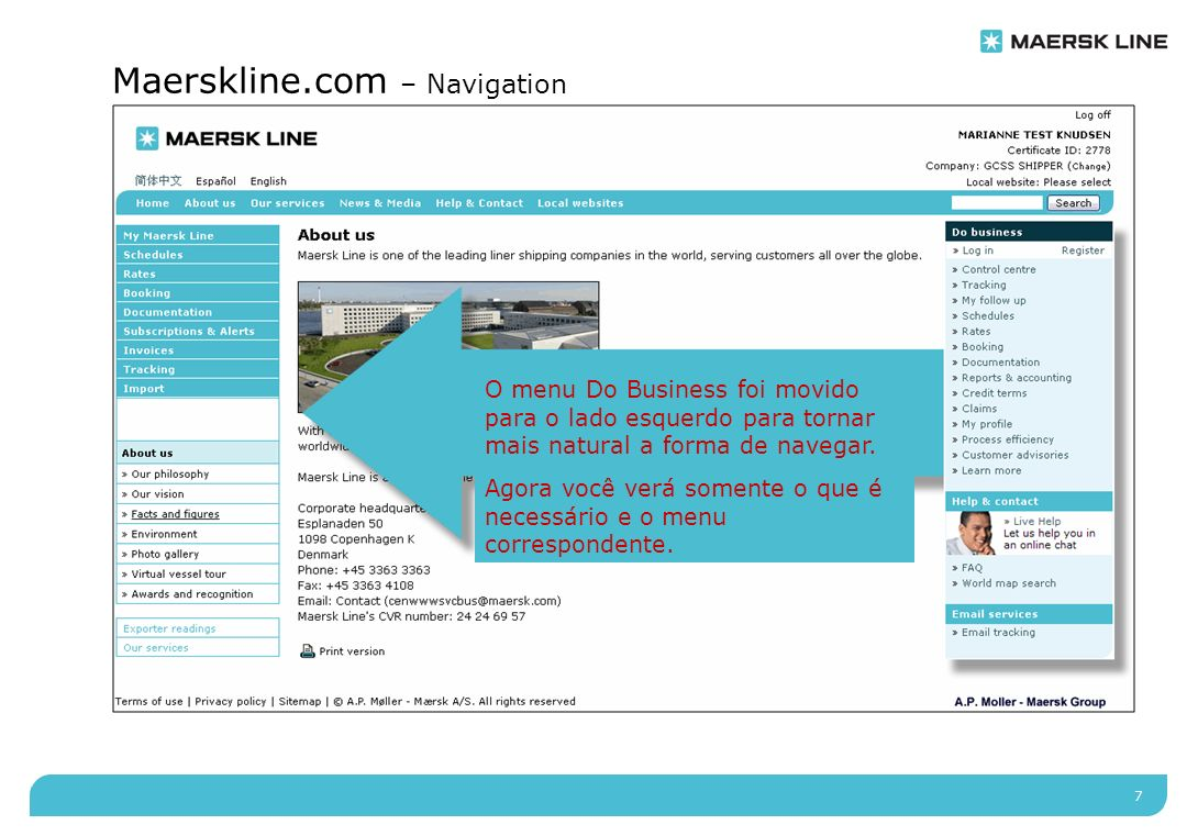 8 Maerskline.com – My Maersk Line My Maersk Line Invoice & Payment Tracking Alerts Subscriptions Documentation Booking Rates Schedules Useful links Demos FAQ Handbooks Welcome Marianne Pre-prod Knudsen My activities Booking » Drafts15 » Awaiting confirmation154 » No SI submitted50 Shipping instructions » Drafts0 » Submitted184 Transport documents » Ready for verification15 » Changes requested154 » Approved not issued11 » Waybill ready for print87 » Original ready for print55 ?¤ Languages: Log out Company: GCSS SHIPPER (Change) Local website: Denmark (Change) Marianne Pre-prod Knudsen Certificate ID: 1822 Search Change view My profile aut viam inveniam aut faciam aut viam inveniam aut faciam aut viam inveniam aut faciam aut viam inveniam aut faciam aut viam inveniam aut faciam aut viam inveniam aut faciam aut viam» Read more Feature story 2 aut viam inveniam aut faciam aut viam inveniam aut faciam aut viam inveniam aut faciam aut viam inveniam aut faciam aut viam inveniam aut faciam aut viam inveniam aut faciam aut viam» Read more Feature story 1 HomeAbout usNews & MediaHelp & ContactOur servicesLocal websites My Maersk Line > O antigo Control Center mudou para My Maersk Line e tem agora muito mais opções de personalização.