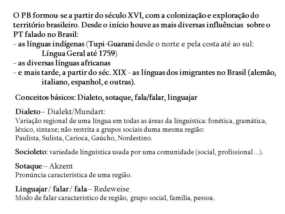 O PB formou-se a partir do século XVI, com a colonização e exploração do território brasileiro. Desde o início houve as mais diversas influências sobr