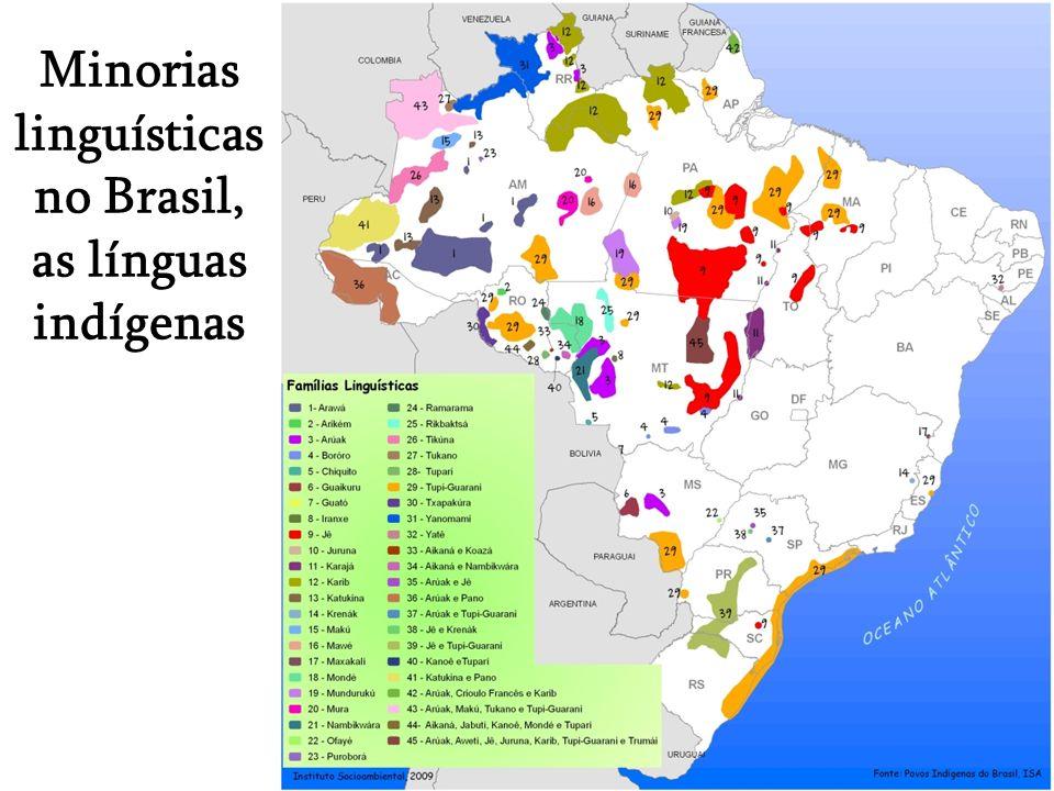 Minorias linguísticas no Brasil, as línguas indígenas
