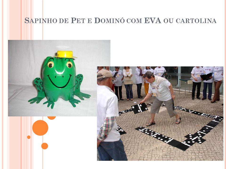 S APINHO DE P ET E D OMINÓ COM EVA OU CARTOLINA