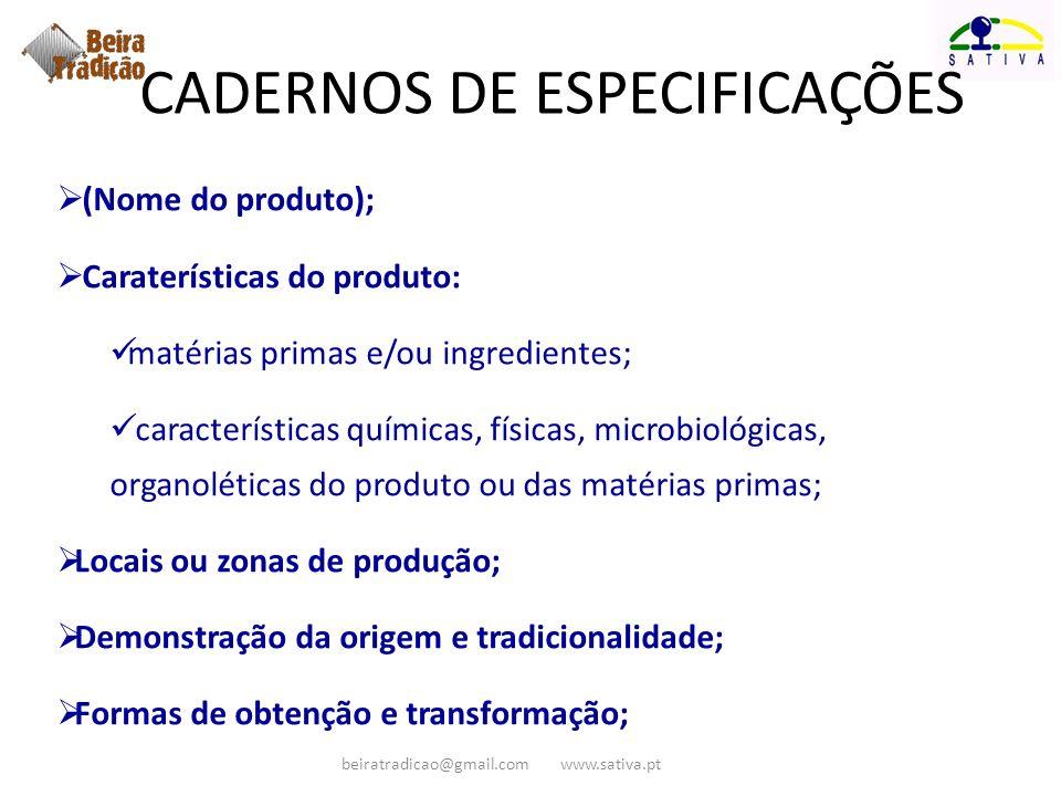 (Nome do produto); Caraterísticas do produto: matérias primas e/ou ingredientes; características químicas, físicas, microbiológicas, organoléticas do