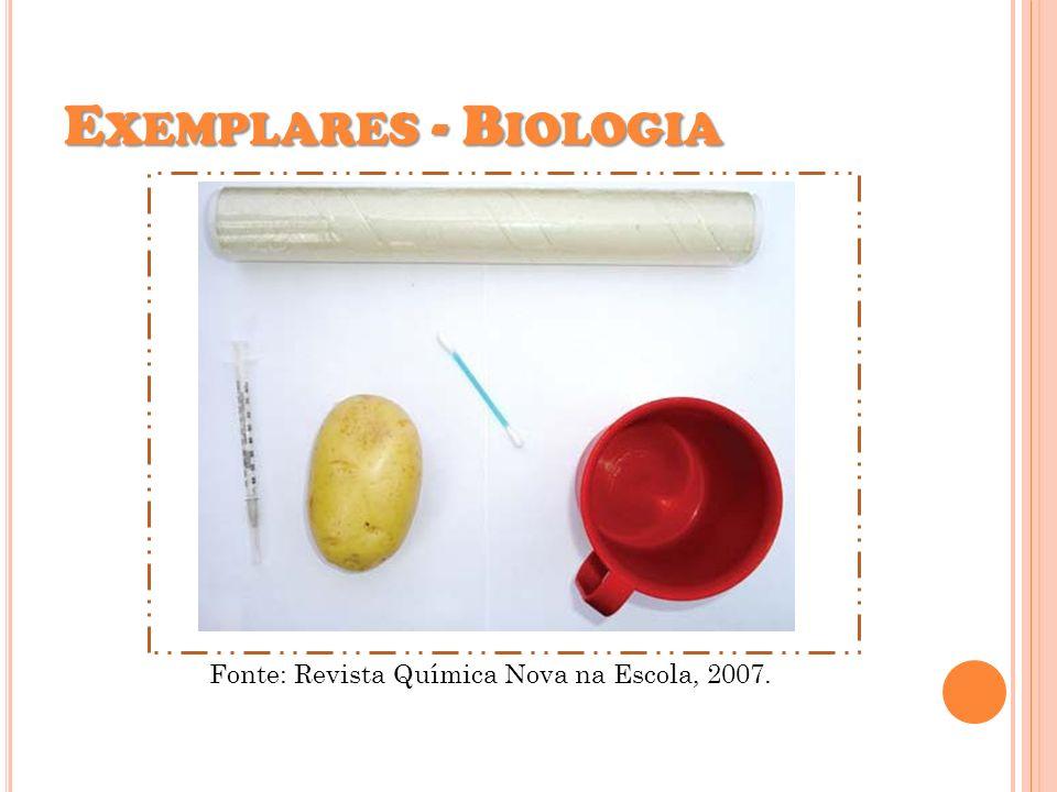 E XEMPLARES - B IOLOGIA Fonte: Revista Química Nova na Escola, 2007.