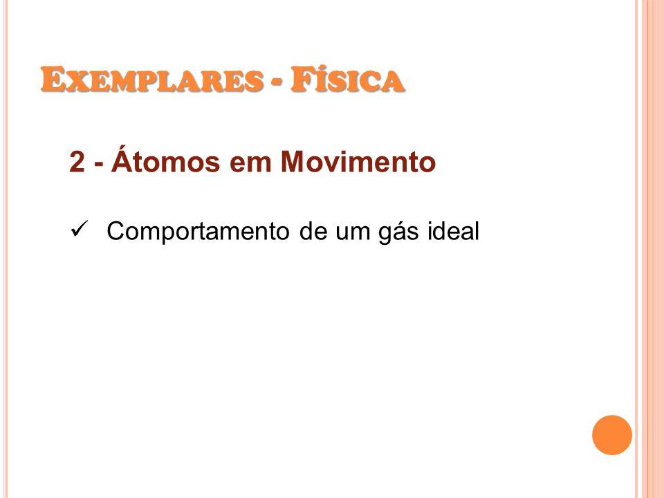 2 - Átomos em Movimento Comportamento de um gás ideal E XEMPLARES - F ÍSICA