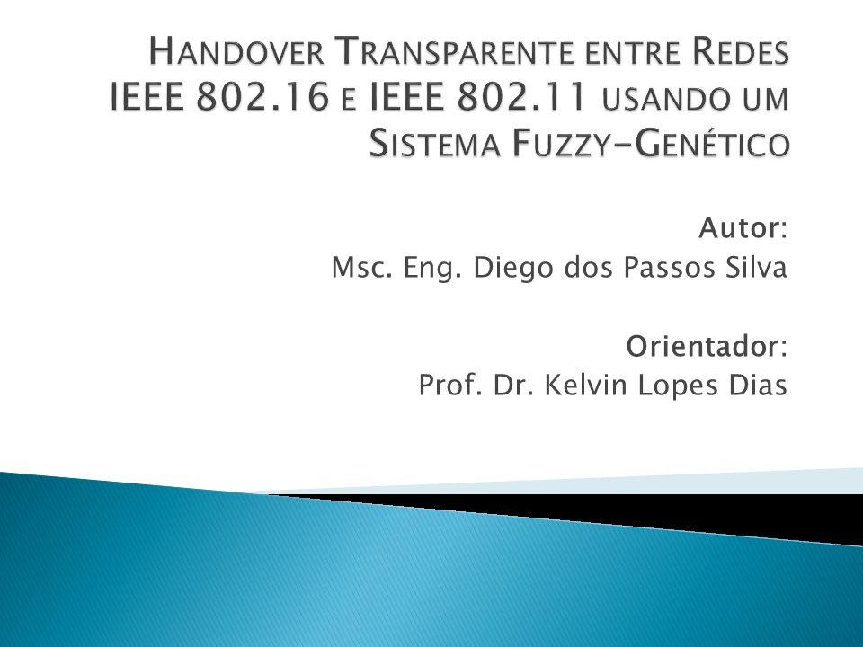 Autor: Msc. Eng. Diego dos Passos Silva Orientador: Prof. Dr. Kelvin Lopes Dias