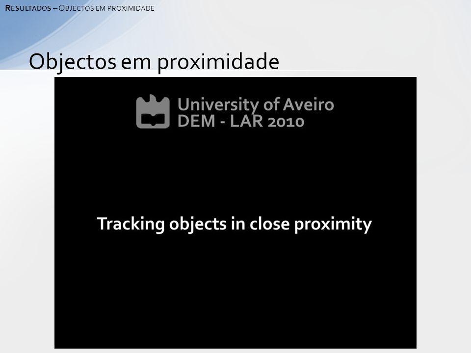Objectos em proximidade R ESULTADOS – O BJECTOS EM PROXIMIDADE