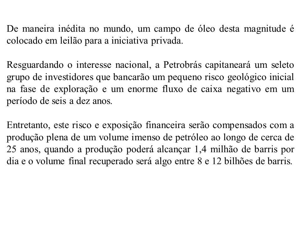 A exploração do campo de Libra, leiloado nesta segunda- feira, deve dobrar as reservas nacionais de petróleo, de acordo com a ANP.