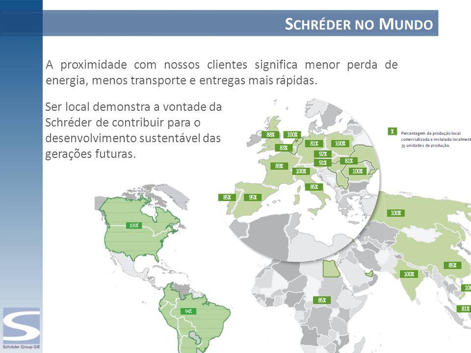 Ser local demonstra a vontade da Schréder de contribuir para o desenvolvimento sustentável das gerações futuras. A proximidade com nossos clientes sig