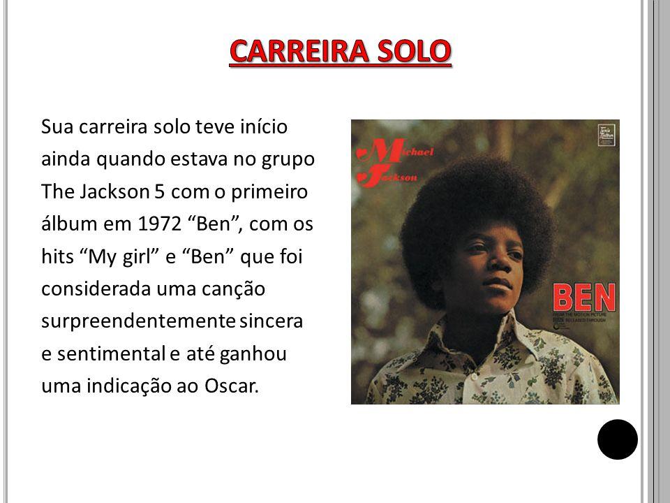 Sua carreira solo teve início ainda quando estava no grupo The Jackson 5 com o primeiro álbum em 1972 Ben, com os hits My girl e Ben que foi considera